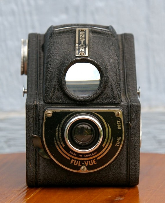 Vintage British Ensign Full Vue Tlr style 120 film Camera 1946-1949