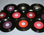 Lot of 10 Vintage Vinyl Albums 45 rpm - Spanish Language Records - Melt them or Play them