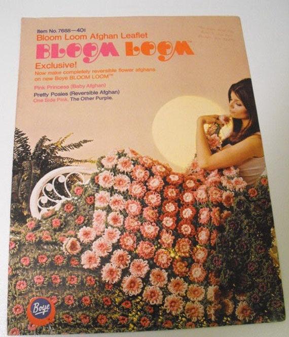Vintage Boye Bloom Loom Afghan Crochet Pattern Booklet
