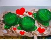 25 Exploding Frog Soap Valentine's Day Party Favors with Valentine Gift Card Tags Attached