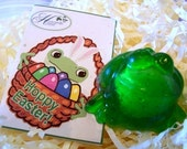 Exploding Frog Soap with Easter Gift Card Tag Attached - Great as an Easter Basket Stuffer