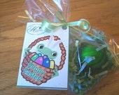 Easter Basket Stuffers - 5 EXPLODING FROG SOAPS(tm) with Easter Day card tags attached - Great for Harry Potter fans