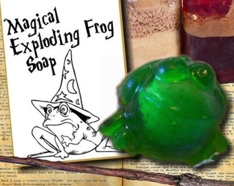 Party Favors - 10 EXPLODING FROG SOAPS with Gift Card Tags Attached - Great for Birthday Parties