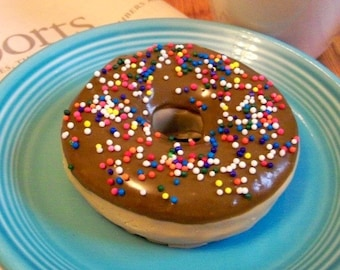 Chocolate Doughnut Soap With Sprinkles - National Doughnut Day donut