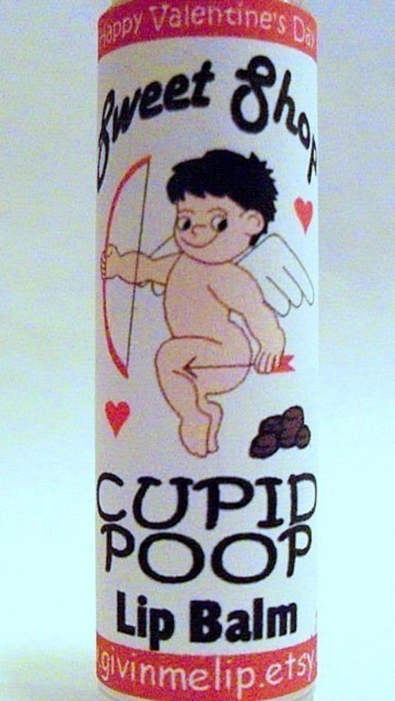 Valentine's Day Lip Balm - CUPID POOP Lip Balm - for a Limited time - Valetine for boys men man husband boyfriend - Novelty - Gag Gift - Fun