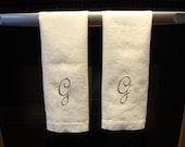 Monogrammed Dish Towel Duo