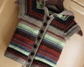 TREEFORT JACKET Striped Hoody  3 months to 10 years Quick Fun Cute Knitting Pattern PDF