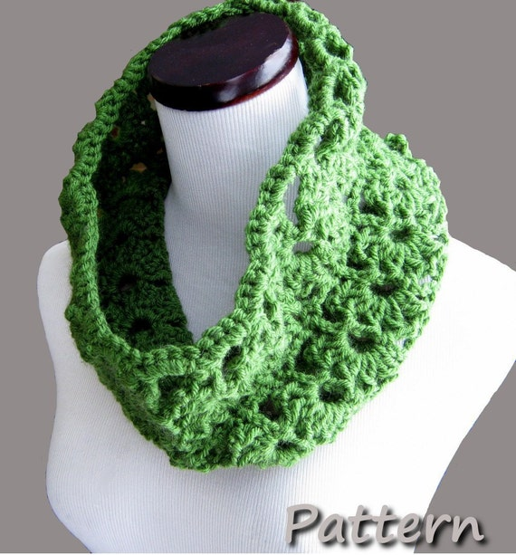 CROCHET PATTERN PDF - Instant Digital Download - Spring and Summer Crocheted Cowl  - CaN sell items made from the pattern