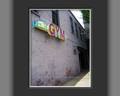 Gym Matted Photo -Urban Neon Gym Sign Matted Art Print -Dorm Workout Exercise Decor -Wall Art -Matted Fine Art Photograph for 11x14 Frame
