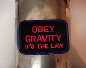 Christmas Clearance Obey Gravity Patch in Purple and Pink