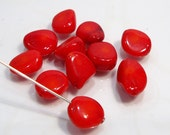 Red Coral Sooth Free Form   Nugget Beads.....10mm...21 Beads