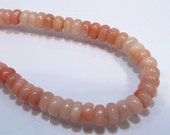10 Beads...Pink Opal Smooth Rondelle Gemstone Beads..6x4mm...BB
