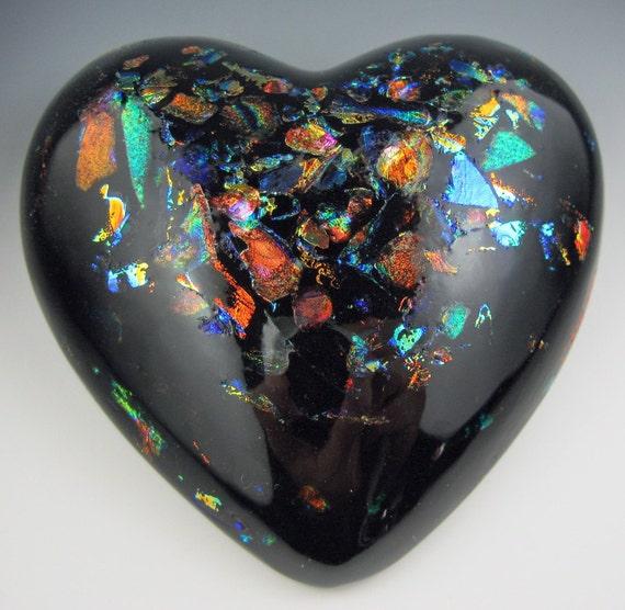 BLACK Opal HEART PAPERWEIGHT Part 2