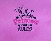 Pink Princess Fleece Throw
