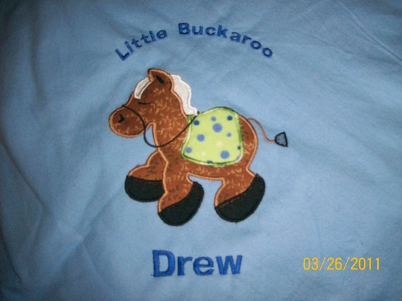 Baby/Toddler Blanket Fleece Handcrafted Personalized New Horse Western so cute
