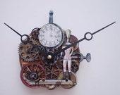 Steampunk Clock With a Clock