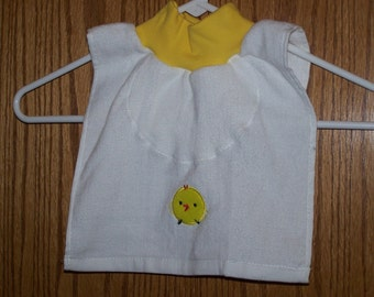 New Baby Chick over the head bib
