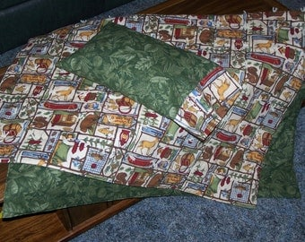 New LITTLE CAMPER quilt and pillow