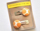 Modern Tangerine Button Clippies