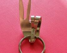 Flatware Fingers-PEACE OUT Silverware Fork Keychain