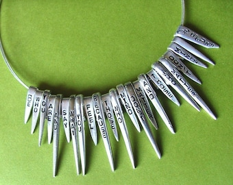 Quotes on Fork Tines Silverware Necklace-MADE TO ORDER