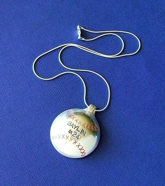 MamaZ Pride Baseball Spoon Necklace - Silverware Jewelry - Silverware Necklace