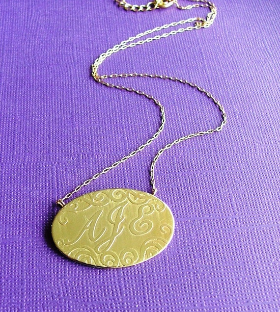 Brass (gold) Gozzip Girl Necklace-MADE TO ORDER