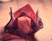 Dark Violet Glass Votive Holder