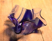 Cobalt Blue Glass Votive Holder