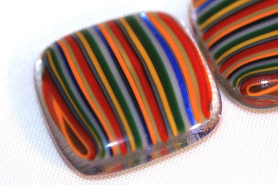 Striped Glass Magnets