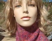 Hand Knit Shimmery Crystal Jewels  Scarf
