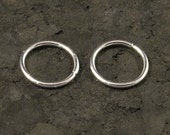 Tiny Catchless Endless Sterling Silver Hoops - A Pair