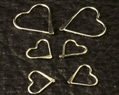 Silver Heart Hoop Earrings /  Sterling Silver Hoops / Ear / Cartilage / Tragus / Nose Ring / Silver Earring Set / Small Little Tiny