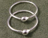 Sterling Silver Hoop Earrings  Argentium Sleeper Hoops  Customize to Your Size Simple Catchless and Classic