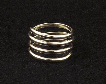 Sterling Silver Ring / Silver Coil Band / Simple Minimalist / Solid Silver Coil Ring / Comfortable