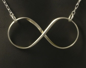 Infinity Silver Necklace / Sterling Silver Infinity Pendant and Chain / Argentium Silver Necklace / Silver Infinity Necklace