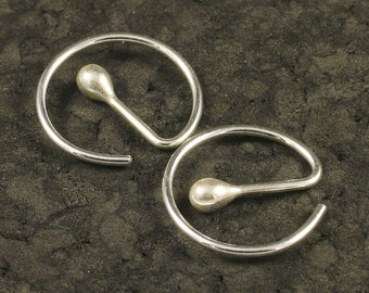 Small Silver Hoops / Sleeper Hoop Earrings / Little Silver Hoops / Sterling Silver Hoops / A MetalRocks Original Modern Sheek READY TO SHIP