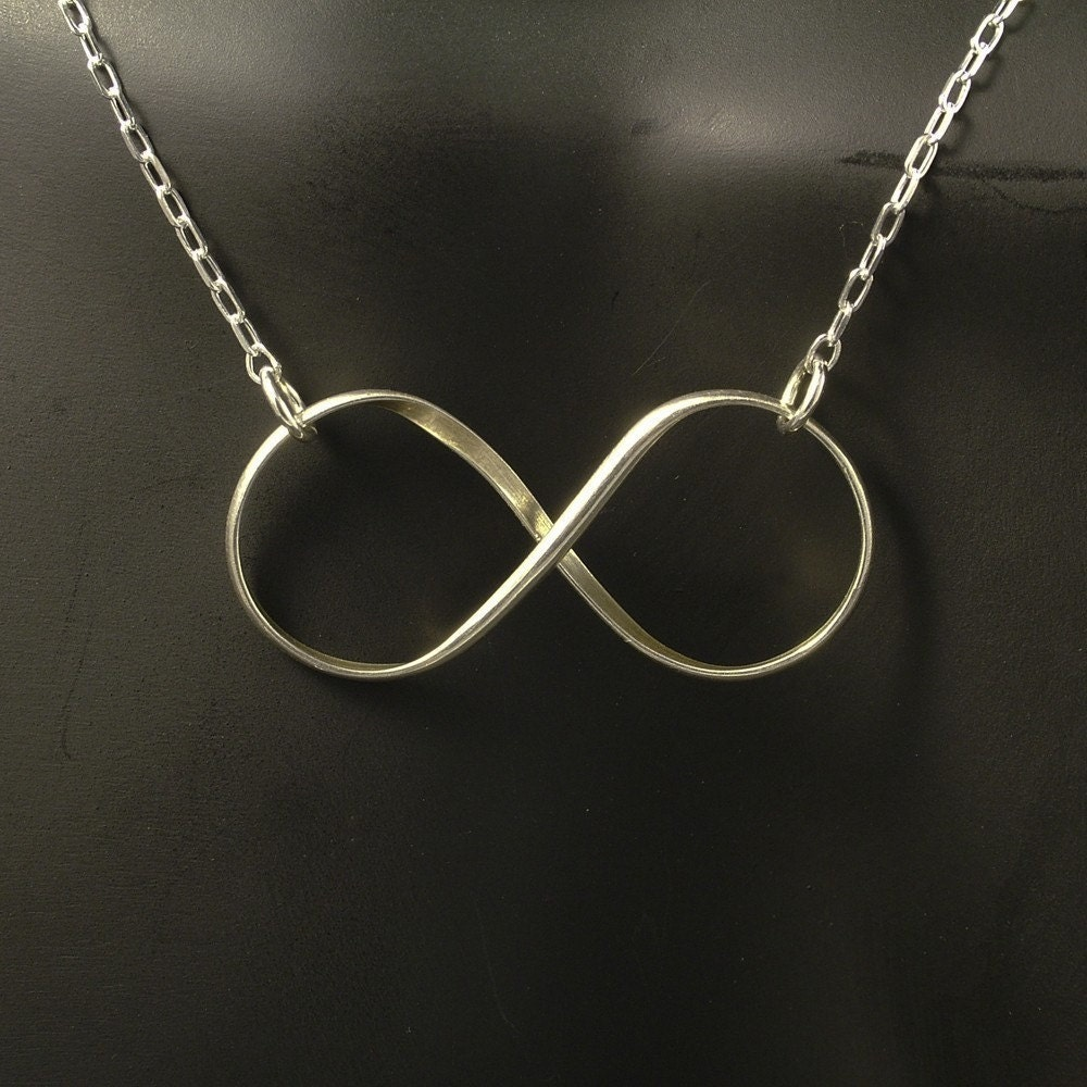 infinity silver necklace sterling silver infinity by