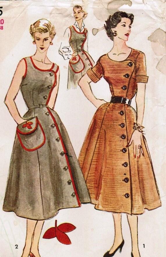 vintage 1952 simplicity 4105 sewing pattern misses