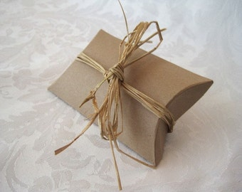 Gift Boxes, Kraft Boxes, Favor Boxes, Jewelry Boxes, Wedding Gift Boxes, Bridesmaid Gift Boxes, Gift Card Box, Pillow Boxes 3.25x3x1 Pack 10