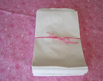 White Paper Bags  6 x 9  Set of 100