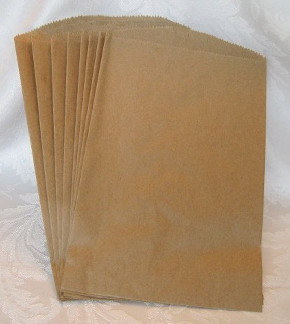 100 paper bags gift bags kraft bags candy bags merchandise for Brown paper craft bags