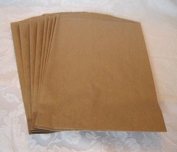 Kraft Paper Bags, Gift Bags, Party Favor Bag, Retail Merchandise Shopping Bags, 8.5x11 Pack of 50