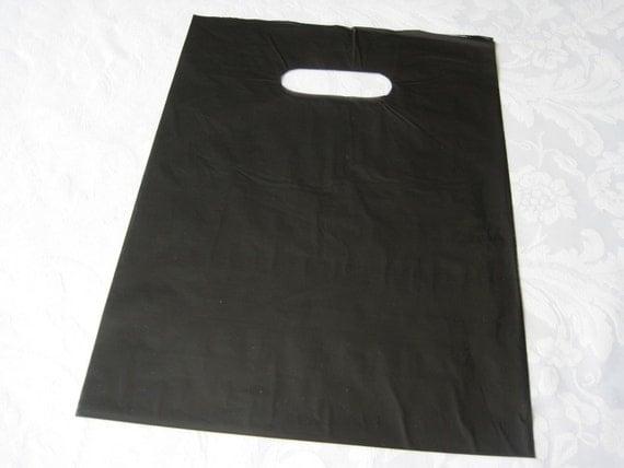 50 Black Bags, Black Plastic Bags, Gift Bags, Gift Bag ...