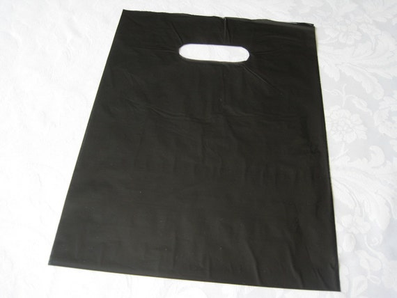 50 Black Bags Plastic Bags Glossy Bags Gift Bags