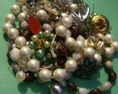 Broken Dreams Need Recycling VINTAGE beads baubles
