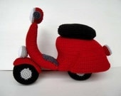 Crochet Pattern - SCOOTER - toys - in PDF  (00462)