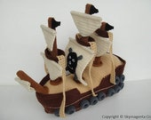 Crochet Pattern - PIRATE SHIP - Toys - in PDF (00464)