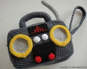 Crochet Pattern - RADIO PURSE - For cell phone / money / others - PDF  (00419)