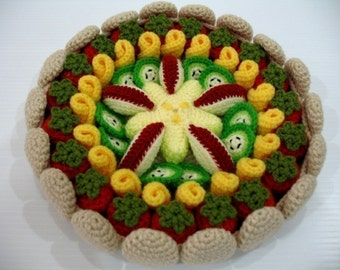 Crochet Pattern-FRUIT PIE-food/toys  (00457)